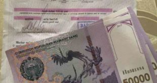 Dollar exchange to Uzbek sum
