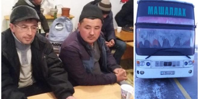 Автобус с 55 узбекистанцами сломался на трассе в Казахстане