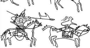 Древние кыргызы (рисунки на камнях)
