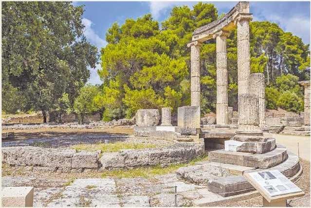 Место проведения I олимпиады в 776 году до н. э.