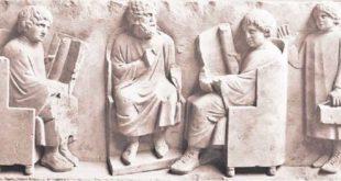 Школа в Древнем Рима. Рельеф