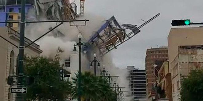 В США обрушилась строящаяся гостиница