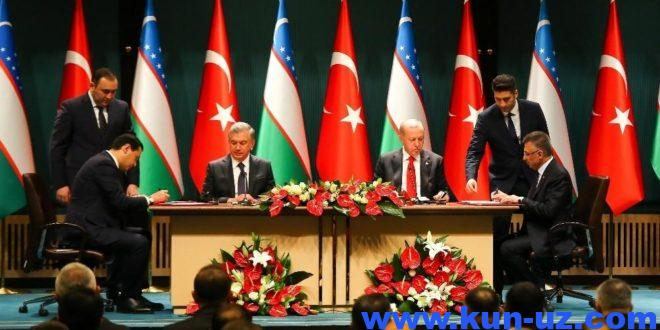 Uzbekiston va Turkiya erkin savdo hududi tashkil etishni rejalashtirmoqda