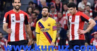 Испания Кубоги. «Барселона» 90+3-дақиқада гол ўтказиб юбориб, мусобақадаги юришини тўхтатди