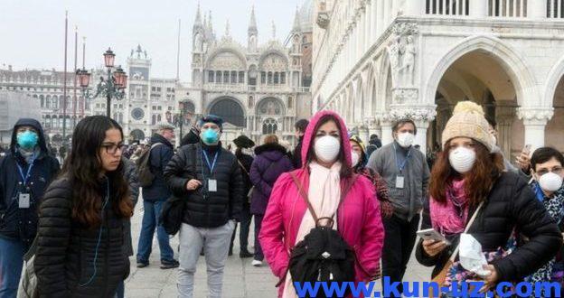 Koronavirus Italiyadan uch qitaga tarqaldi. Sunggi malumotlar