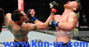 UFC 249. Жастин Гетжи Тони Фергюсонни муддатидан аввал таслим килиб, енгил вазнда вактинчалик чемпионга айланди