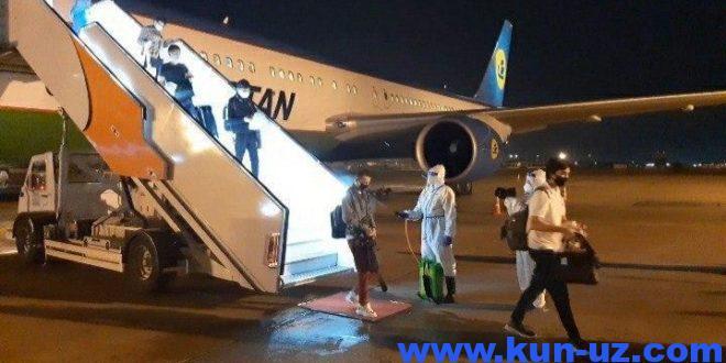 Бир ҳафтада 4 давлатдаги ўзбекистонликлар 9та чартер рейс орқали Тошкентга олиб келинади