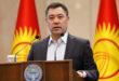 Kyrgyzstan's Prime Minister Sadyr Japarov delivers a speech during an extraordinary session of parliament in Bishkek, Kyrgyzstan October 16, 2020. REUTERS/Vladimir Pirogov