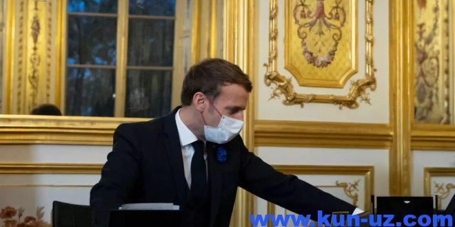 Makron Aliev va Pashinyan bilan gaplashib, Qorabogda Fransiya yordamini taklif qildi